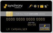 Synchrony Car Care Card