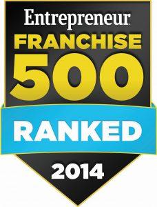 Entrepreneur Franchise 500 2014 Badge
