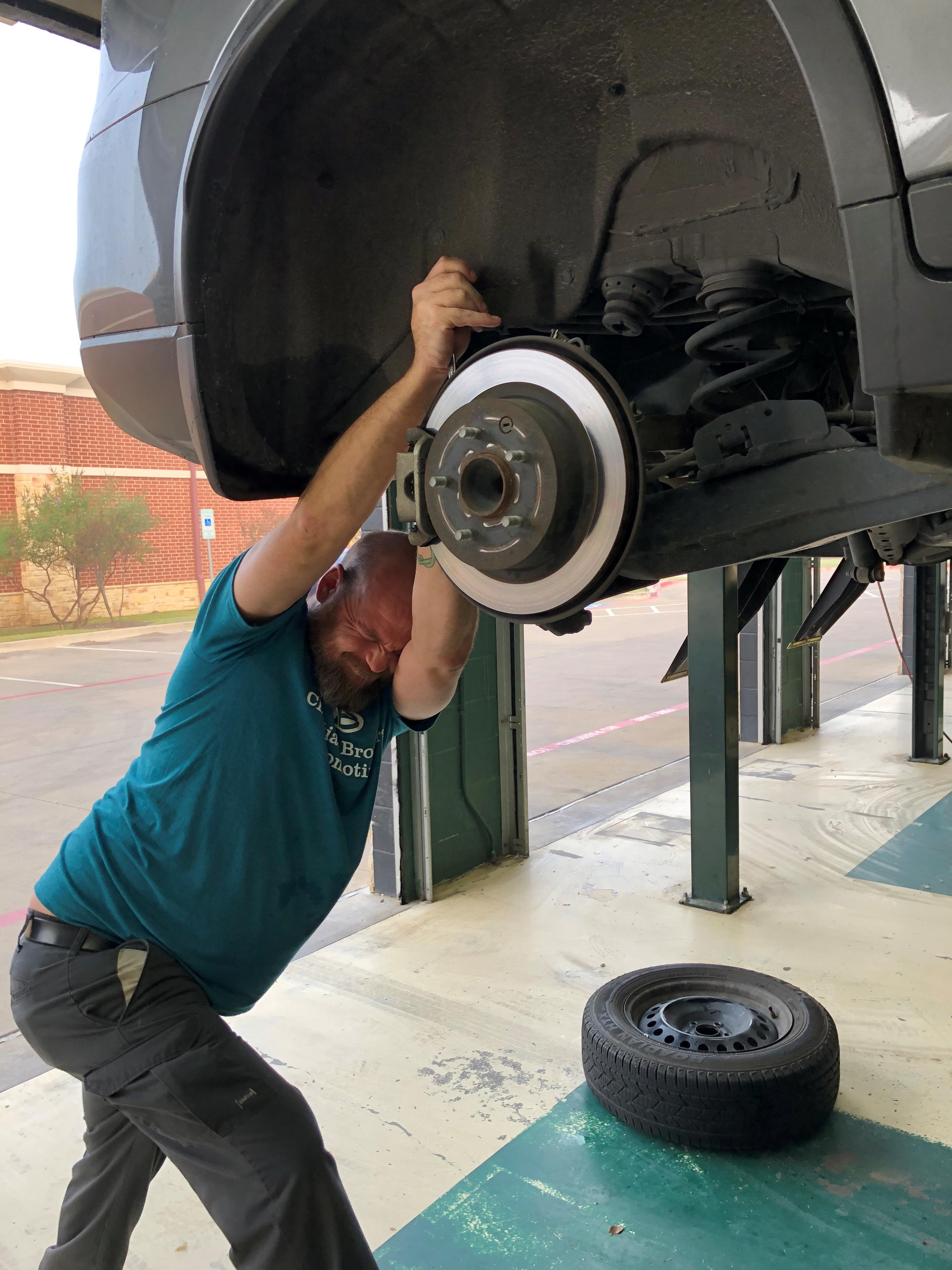 working on brakes